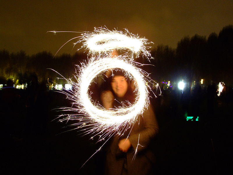 Sir, I'm gonna have to ask you to extinguish that sparkler.