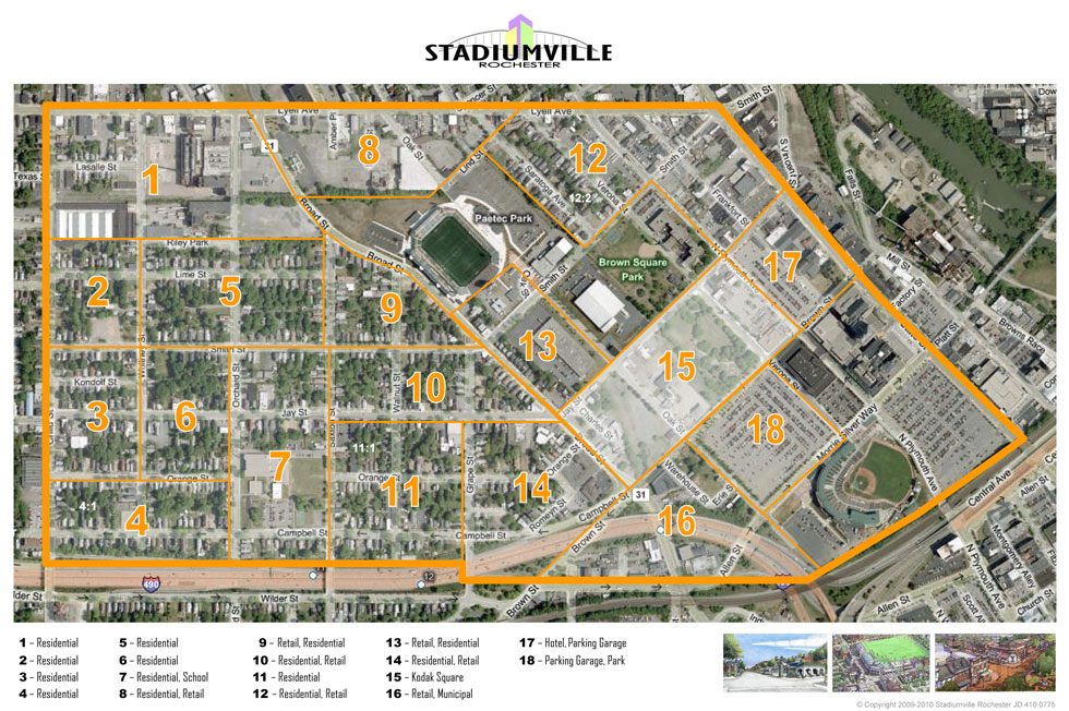 Stadiumville concept for Rochester: Site Plan