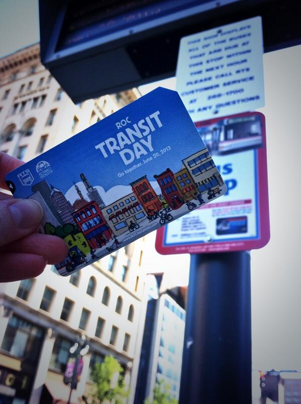 Photo from ROC Transit Day 2013, sent in by Stefanie Schwingle.