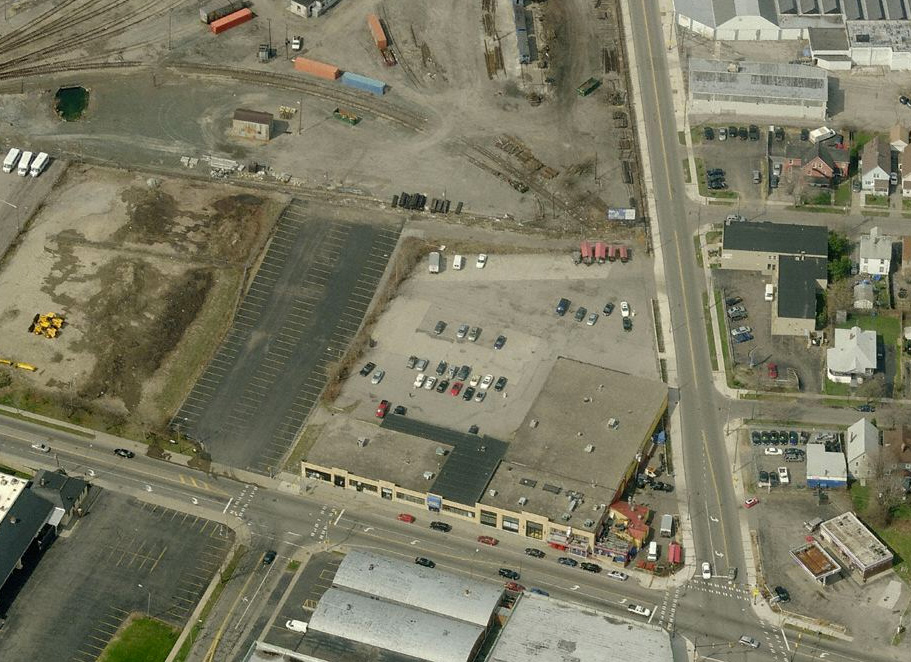 Howard Nielsen is currently in the process of transforming the 33,000 square foot building at the corner of Culver and Atlantic into 'Photo City Junction.' [PHOTO: Bing Maps]