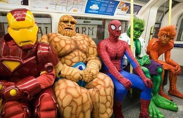 These 'subway heroes' ain't got nothin on Wanda Dueno. [PHOTO: BuzzFeed.com]