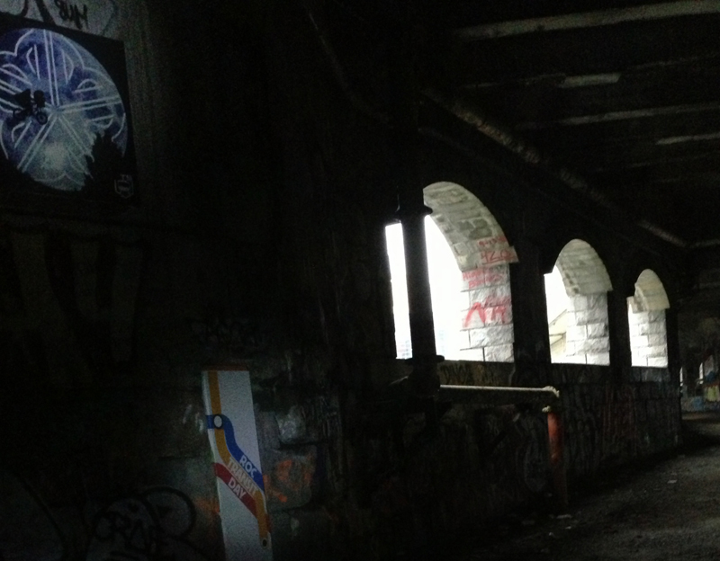 You'll also find a similar piece of art by Thievin' Stephen hiding in the Rochester subway tunnel. [PHOTO: Thievin' Stephen]