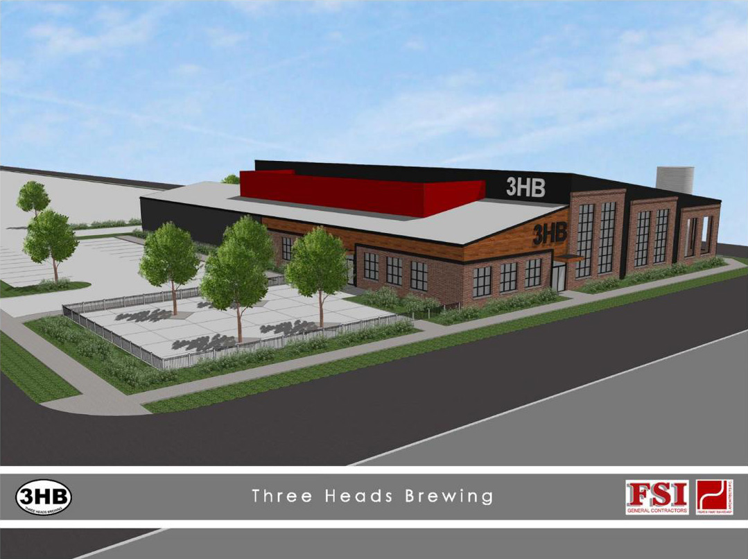 FSI Development of Rochester plans to build a brewery and tasting room on the empty lot at 186 Atlantic Ave. for lease to Three Heads Brewing.
