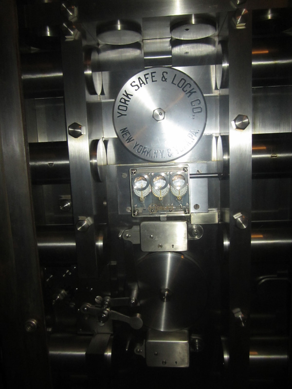 The vault door locking mechanism. [PHOTO: Ryan Green]