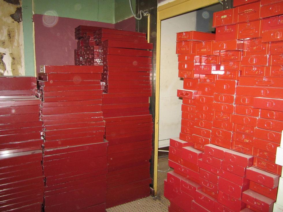 Original safe deposit boxes [PHOTO: Ryan Green]