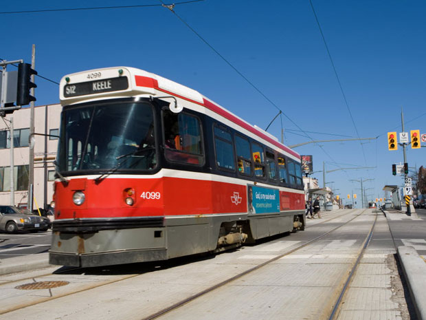 A Toronto streetcar on St. Claire Ave. [PHOTO: Brett Gundlock, National Post Files]