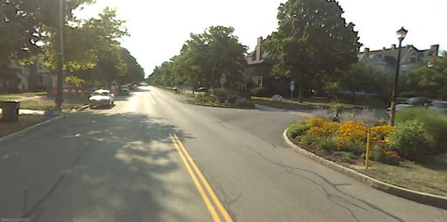 You probably don't even remember what University Avenue was like before it looked this. Four lanes curb-to-curb and certainly no room for those pretty daisies. [PHOTO: Google Streetview]!