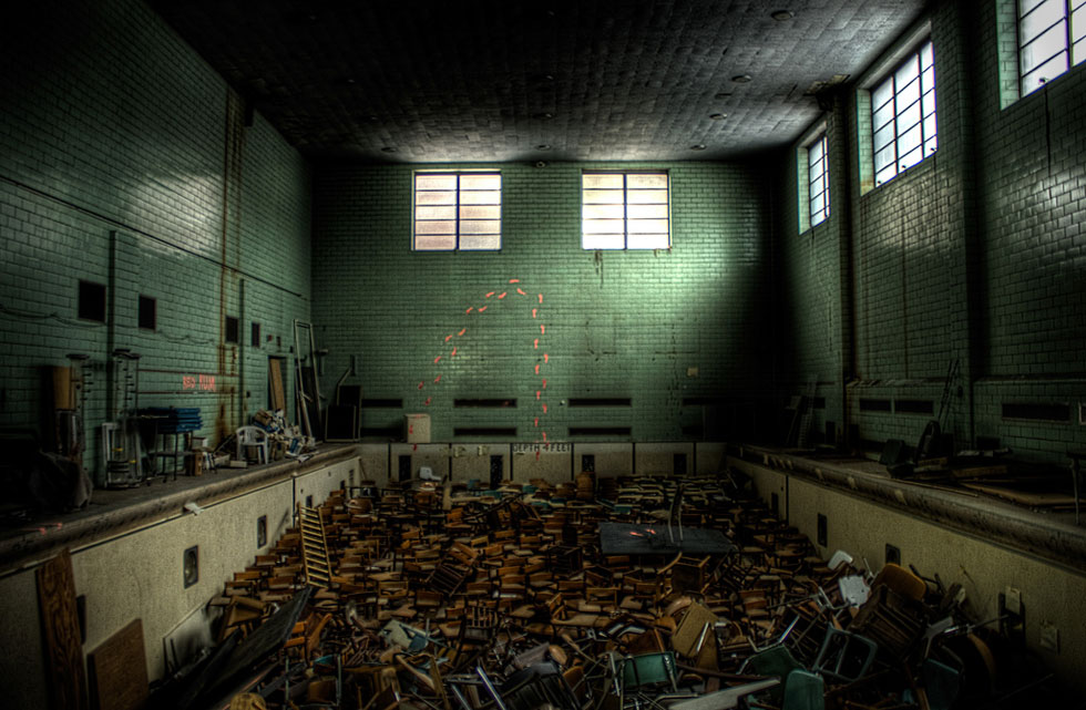 A little known abandoned swimming pool at University of Rochester. [IMAGE: Chris Seward]