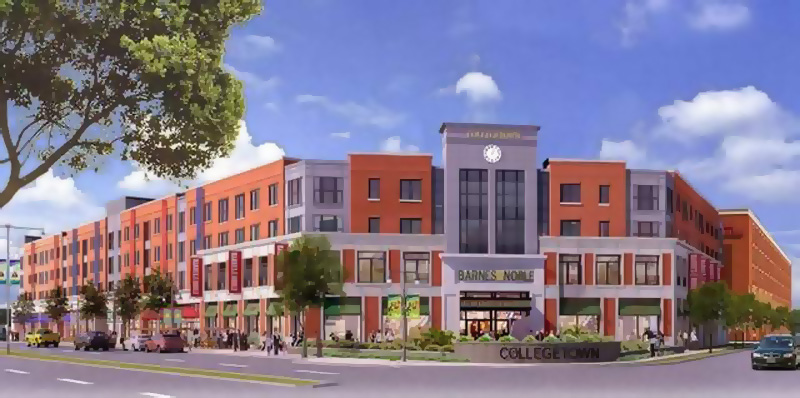 The College Town developers will be asking for certain City design codes to be waived.