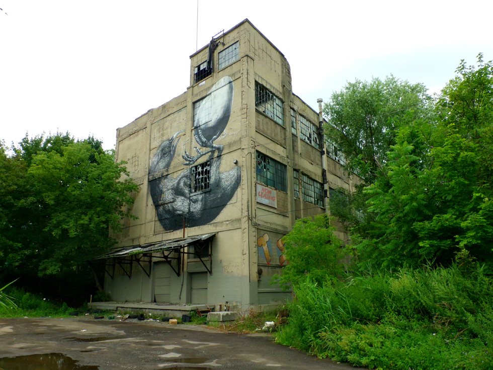 Abandoned Vacuum Oil building. Flint Street, Rochester, NY. [IMAGE: Snoop Junkie]
