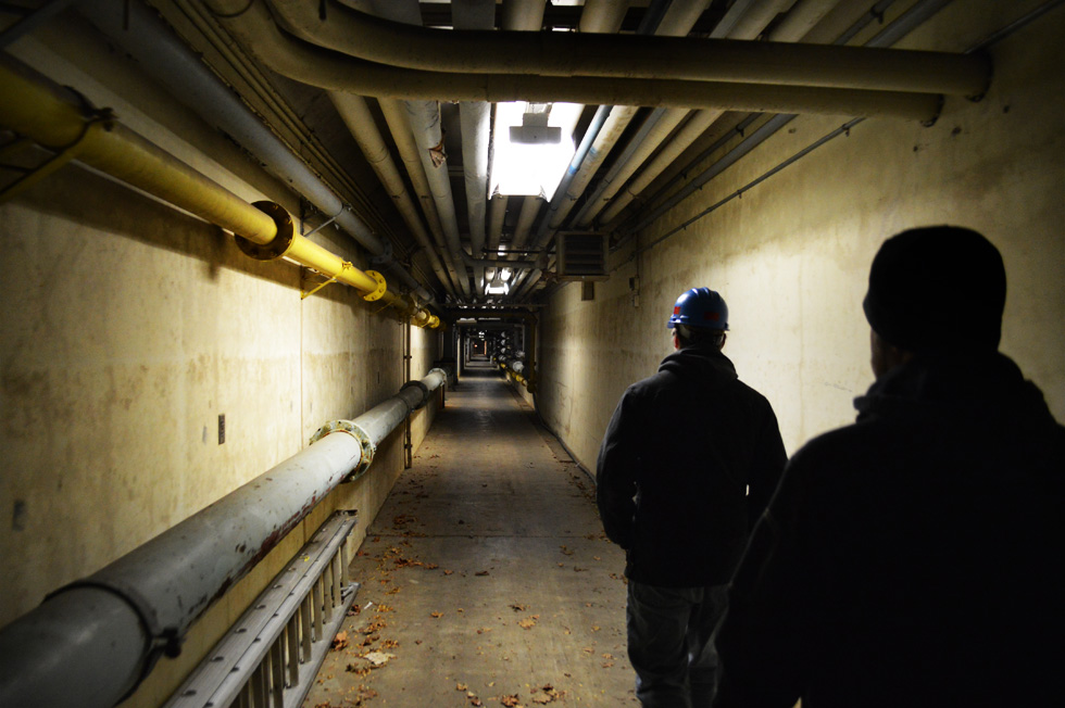 Check out the yellow pipe labeled CHL. SOL. [PHOTO: RochesterSubway.com]
