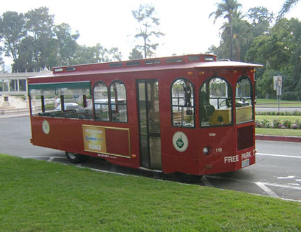 At this time it is not known what type of tram will be purchased for the market—but we hope it's not too different than this one.