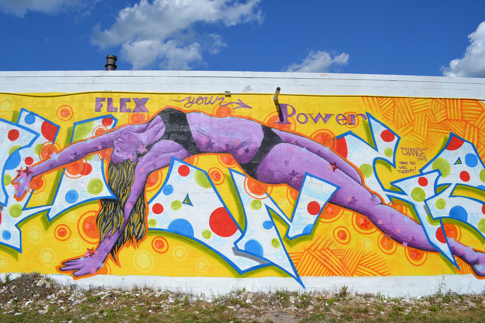 Art from the Wall Therapy project along Rochester's El Camino Trail. [PHOTO: RochesterSubway.com]