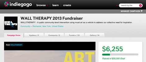 Help raise funds for more WALL\THERAPY. Contribute to their online campaign today!