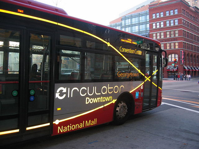 The Circulator bus in Washington D.C. [PHOTO: afagen's Flickr Stream]