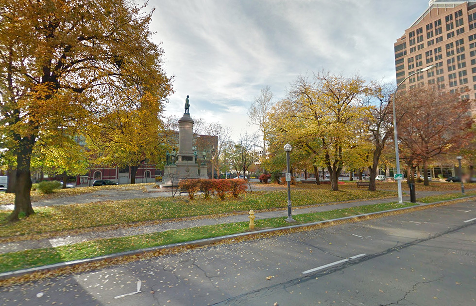 Washington Square Park. Rochester, NY. [PHOTO: Google Maps]