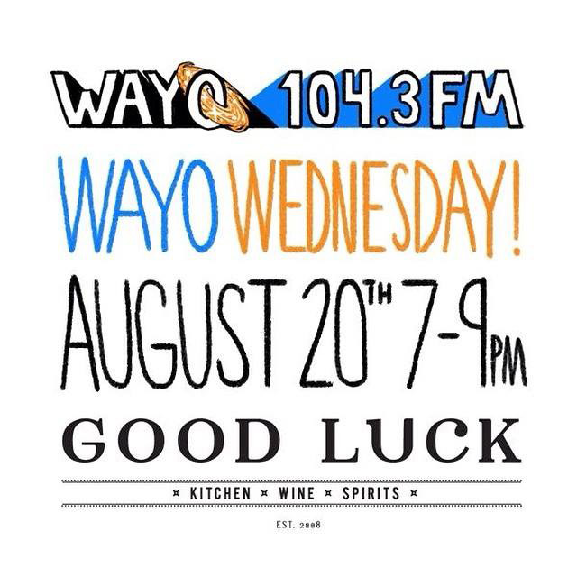 To celebrate the campaign's launch (and to wish WAYO good luck!) the public is invited to Good Luck Restaurant on Wednesday August 20, 7-9pm. [IMAGE: Provided]