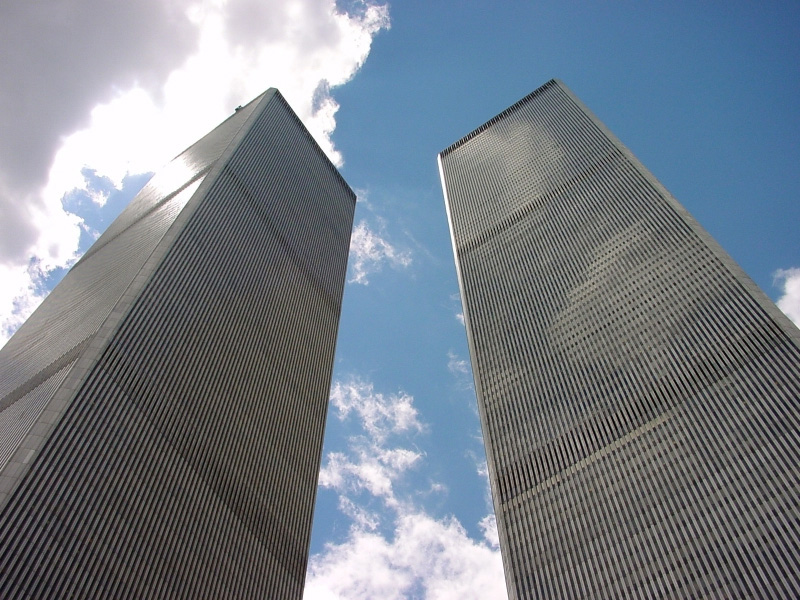 The original Twin Towers in NYC. Completed 1971.