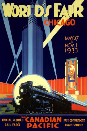 Poster Advertisement for the 1933 Chicago World's Fair (Century of Progress).