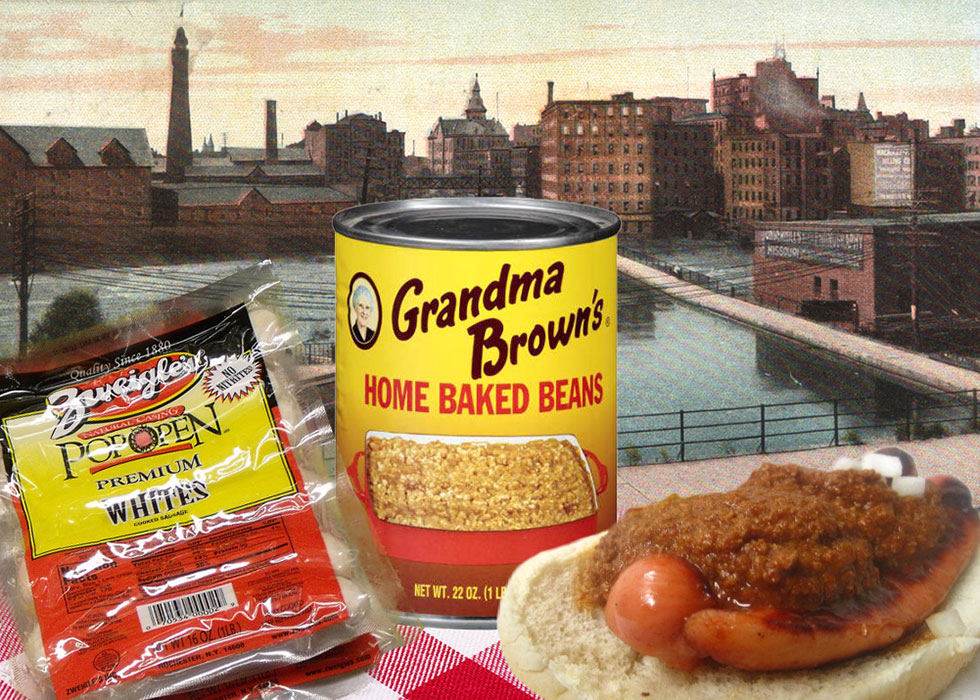 Zweigle's and Grandma Brown's Baked Beans. A real Rochester banquet.