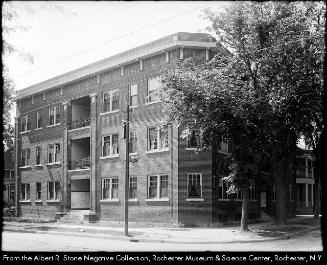 Belnord Apartments in 1921 (now the Rite Aid at Monroe and Goodman) [PHOTO: Rochester Museum and Science Center