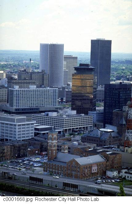 Downtown from High Falls [PHOTO: Rochester City Hall]