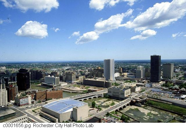 Looking Downtown from the County Offices [PHOTO: Rochester City Hall]