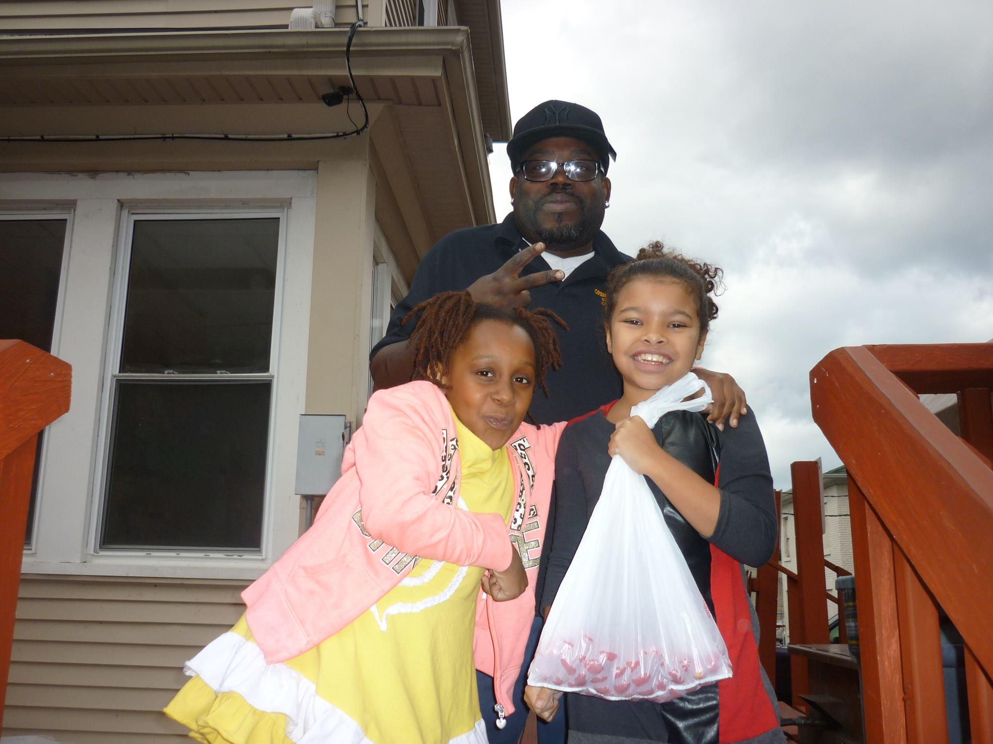 Gloria, Kay Smith, and Isaac from Open Door Mission [PHOTO: Gloria Grattan]
