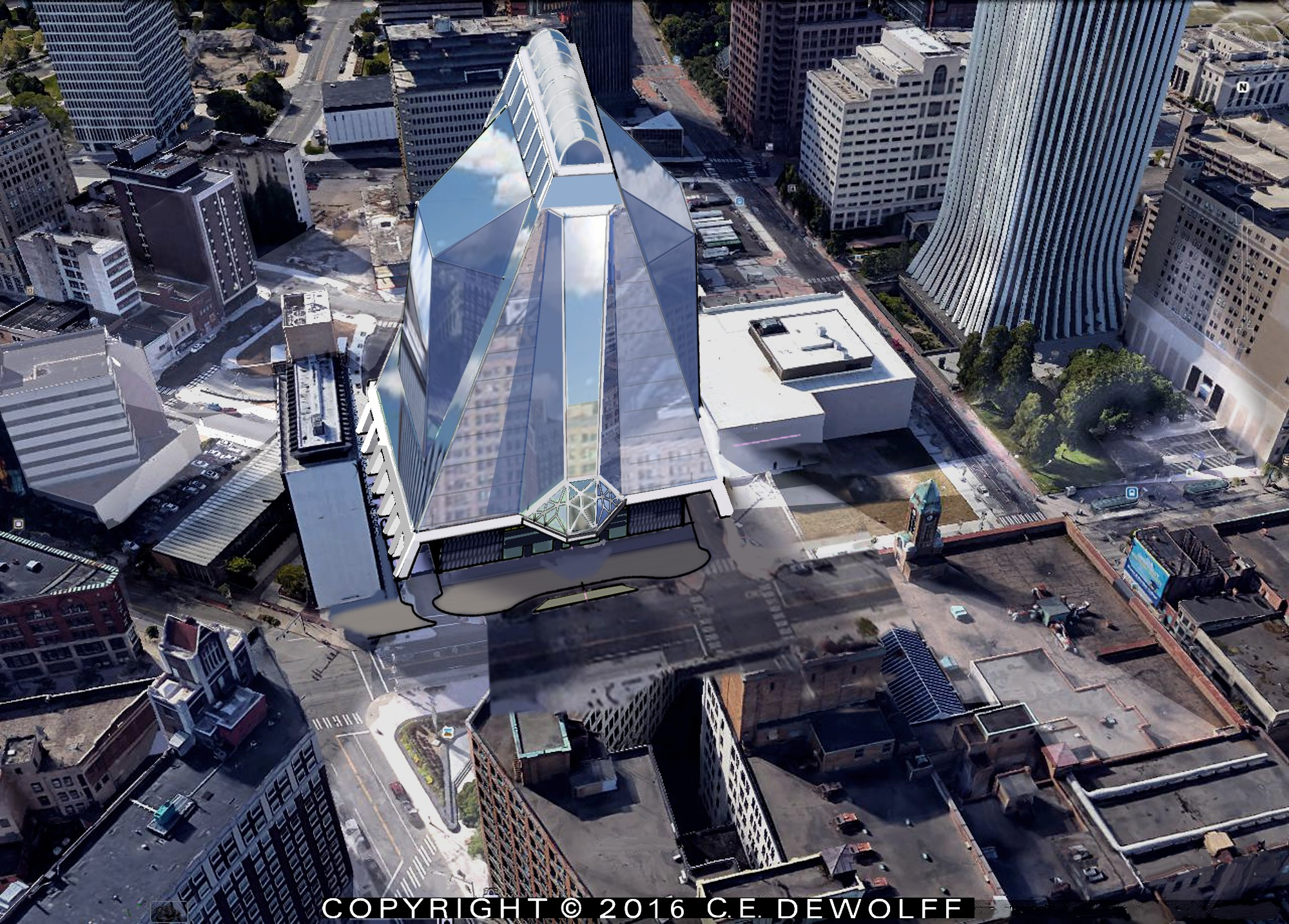 Rendering of Parcel 5 Proposal by Fraser Smillie [PHOTO: DeWolff Partnership Architects]