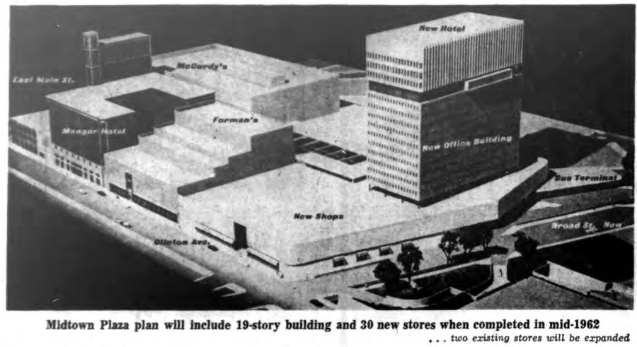 Midtown Plaza Rendering [PHOTO: Buffalo Courier-Express 6/5/1961]