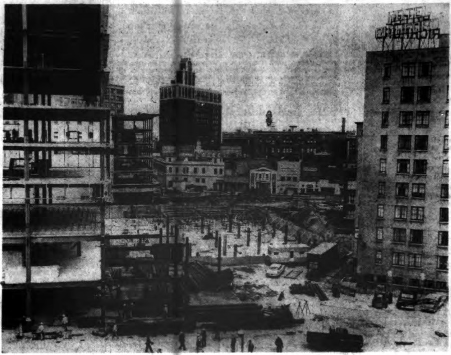 Midtown Plaza Under Construction [PHOTO: Buffalo Courier-Express 6/4/1961]