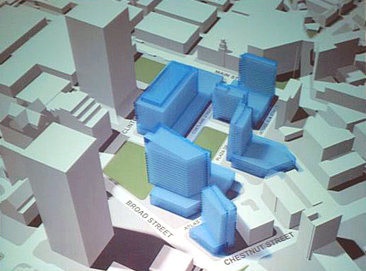 2008 Conceptual plan for Midtown by the City of Rochester [PHOTO: City Hall Photo Lab Contemporary Collection]