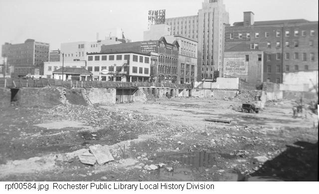 Excavating for the War Memorial Arena in 1952 [PHOTO: RPL Local History Division]