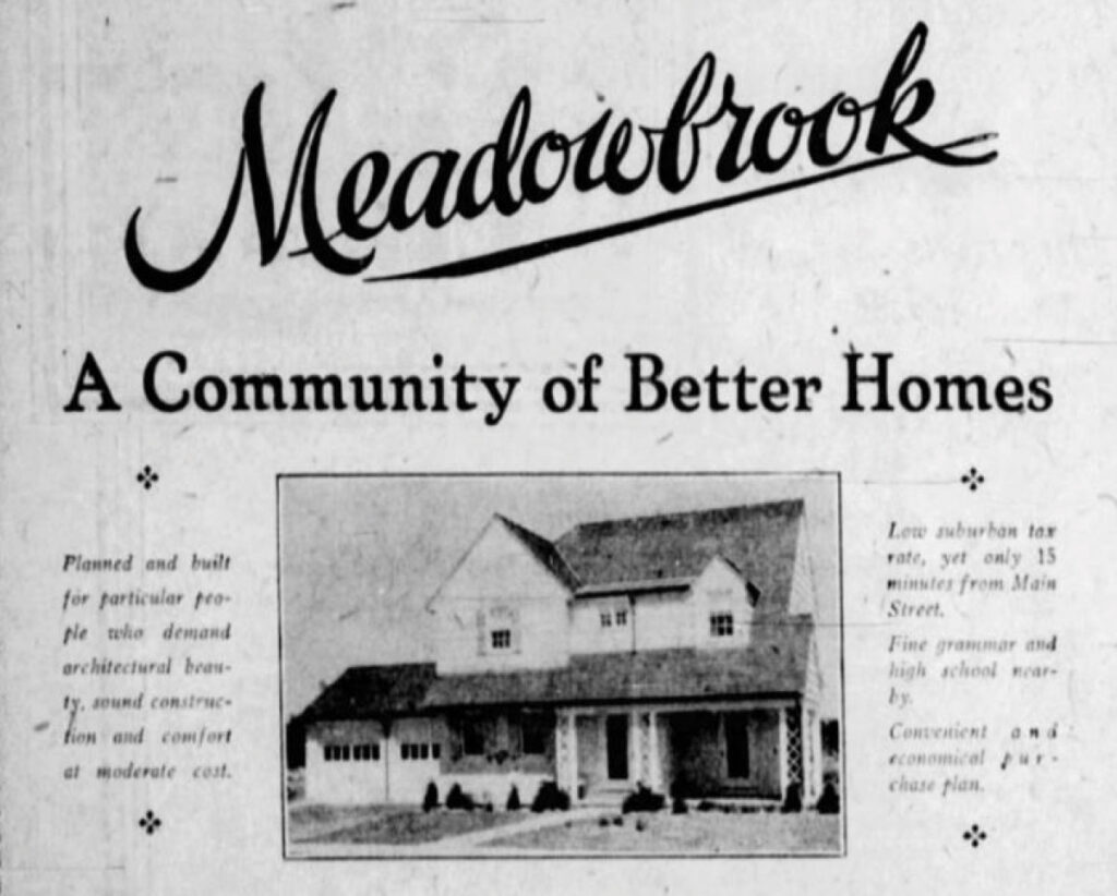 Ad for Kodak's Meadowbrook Community in Brighton NY.