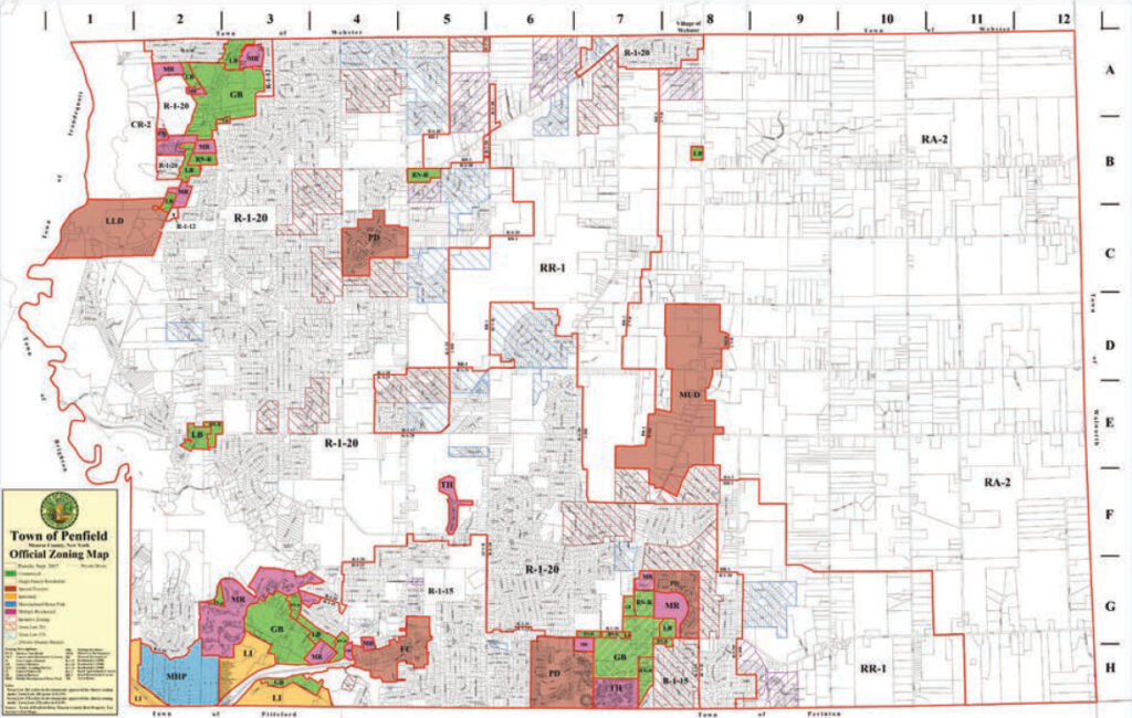 Penfield Zoning Map