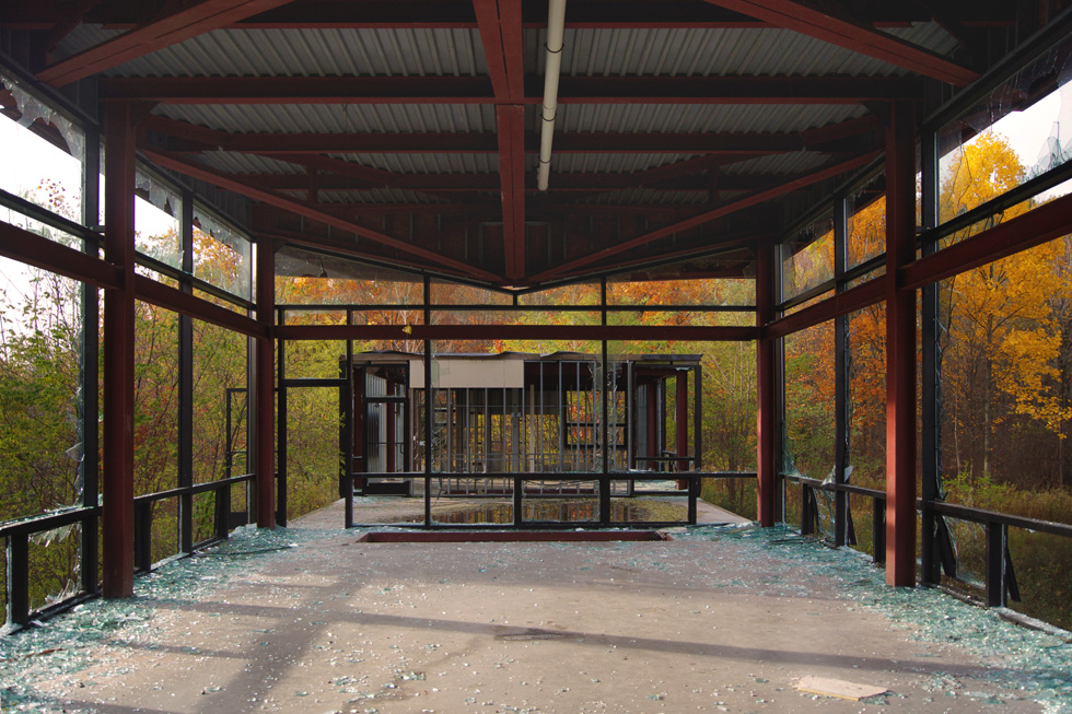 Abandoned glass house for Rochester house