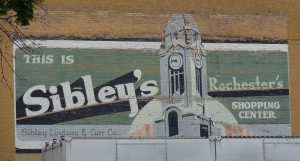 This sign is still on the back of the Sibley building